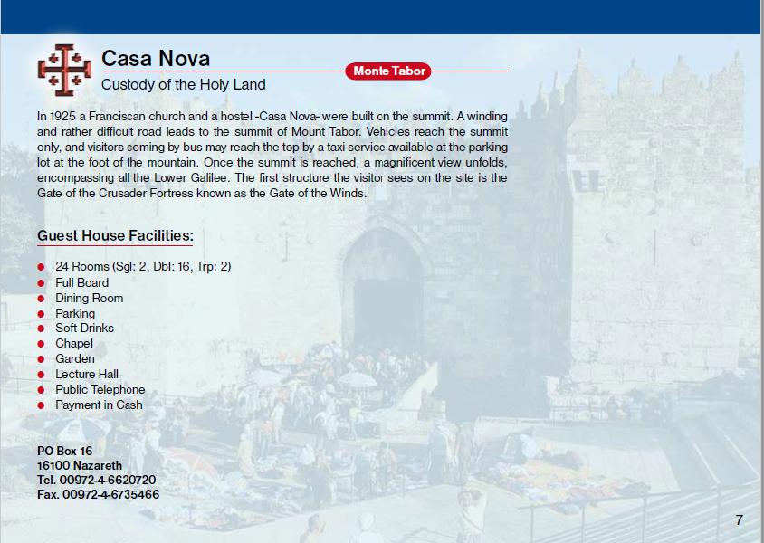 Casa Nova Monte Tabor Guest House Jerusalem