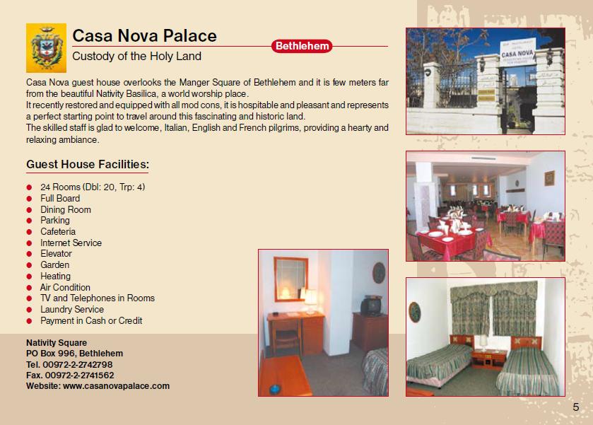 Casa Nova Palace Guest House Jerusalem