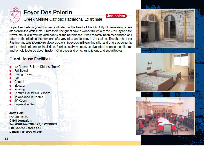 Foyer de Pelerin Guest House Jerusalem