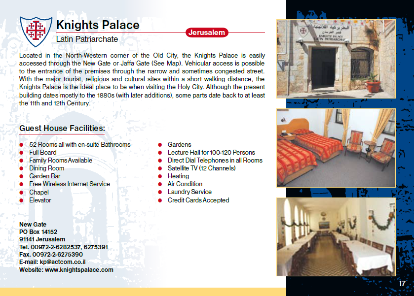 Knights Palace Guest House Jerusalem