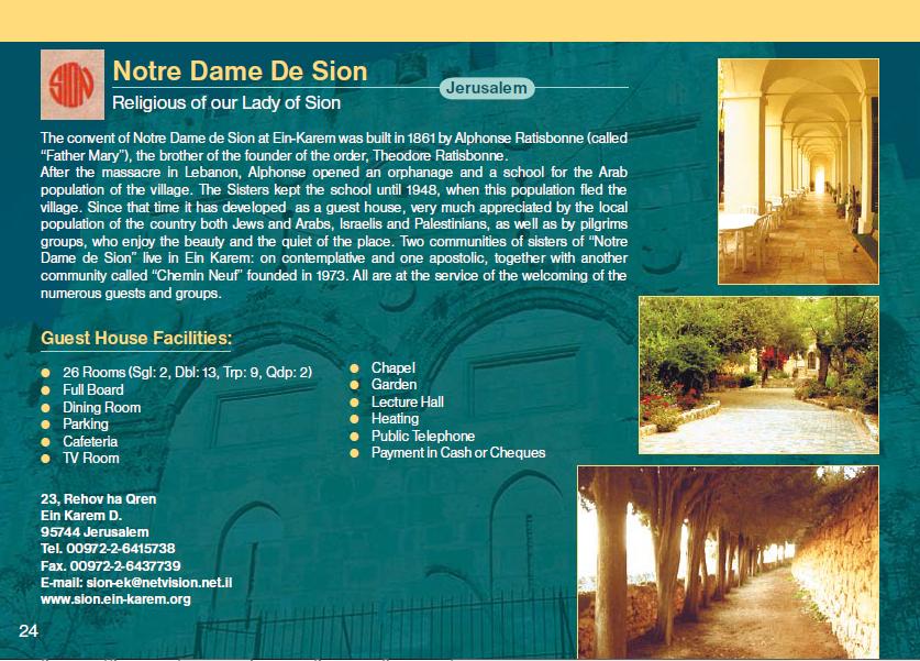 Notre Dame de Sion Guest House Jerusalem