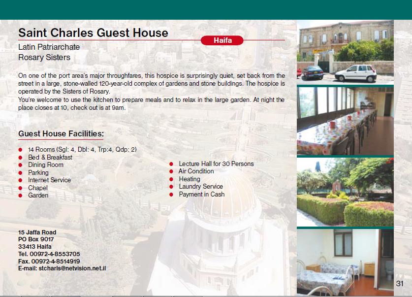 Saint Charles Guest House Haifa Guest House Jerusalem