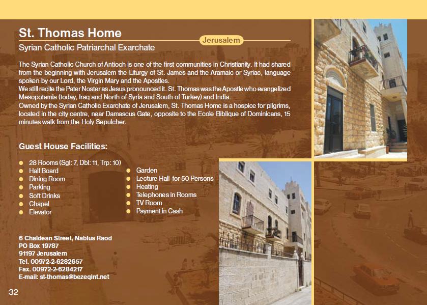 St. Thomas Home Guest House Jerusalem